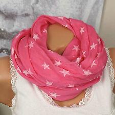 SEIDENSCHAL Seide HALSTUCH Schal Pink Sterne Tuch SILK COTTON EDEL LUXUS ITALY