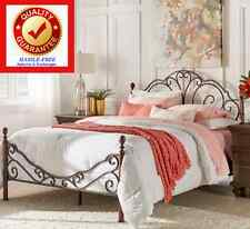 queen size metal bonze iron bed frame antique style bedroom furniture graceful