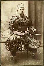 Japanese Warrior in Armour - Samurai ? 1880's, Reprint Photo 12x8 inch