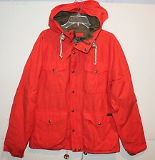 Polo Ralph Lauren Mens Treking Orange Heavy Mountain Jacket Hooded NWT $295 L