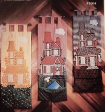 Victorian House Wall Hanging w/ Pocket Applique quilt pattern