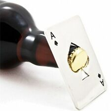 Poker Playing Card Ace of Spades Shape Bottle Cap Opener
