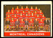 1974 75 OPC O PEE CHEE #330 MONTREAL CANADIENS TEAM CARD VG-EX MARKED CHECKLIST