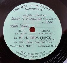 ORREA PERNEL plays BACH Sonatas for solo Violin PRIVATE TEST PRESS 1 of a kind!