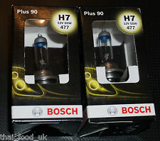 Bosch Car Headlamp Bulbs 477 H7 x 2 (Plus 90)