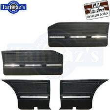 1964 1965 Barracuda Front Door & Rear Quarter Trim Panels - Black PUI