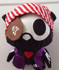NWOT SKELANIMALS OWL DRESSED LIKE A PIRATE PLUSH SKULL EYE PATCH HALLOWEEN