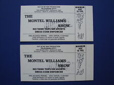 THE MONTEL WILLIAMS SHOW RARE VINTAGE 1992 SHOW TICKETS HOLLYWOOD CA