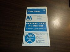 AUGUST 1977 CONRAIL/MTA WHITE PLAINS, NY OFFICIAL TIME TABLE