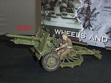 King and Country dd204 25lb Britannico Militare Campo pistola giocattolo Soldato Figure Set