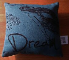 MERMAID DREAM Turquoise Linen Canvas Beach Home Couch Throw Pillow Decor NEW