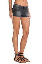 NWT TRUE RELIGION JEANS WOMEN Sz26 JOEY STRETCH CUT OFF SHORT NIGHT FALL $198.