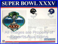SUPER BOWL 35 Ravens / Giants 2001 Willabee Ward OFFICIAL SB XXXV NFL PATCH CARD