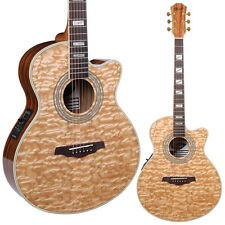 Lindo Piebald Ash Electro-Acoustic Guitar w/ Integrated Pre-amp/LCD Tuner+Gigbag