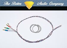 "9"" Tonearm Rewire Kit.Ready Fitted Cartridge Tags, Cardas 4x33 Tonearm Wire"