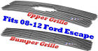 09 2009 2012 08-12 2011 10 11 Ford Escape Bolton Billet Grille 2PC Combo 2008