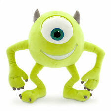 "Disney Store Authentic Patch Mike Wazowski Monsters Inc Plush 10 1/2"" Toy Doll"
