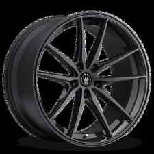 18x8 KONIG OVERSTEER 5x114.3mm +35 Black Wheels Fits Tiburon Mazda 3 Eclipse Rx8