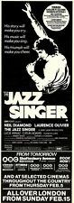 31/1/81PGN23 ADVERT: EMI FILMS PRESENTS NEIL DIAMOND THE JAZZ SINGER 15X5