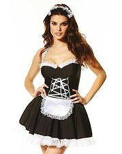 SIZE 12 14 MAID TO PLEASURE ANN SUMMERS FANCY DRESS UP TUTU BLACK & WHITE DRES