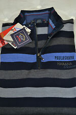 PAUL & SHARK YACHTING  V PULL SIZE XL  ART.  0046SF SLIM FIT STRIPED