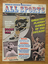 BOBBY ORR All Sports Review (March 1973) Magazine BOSTON BRUINS