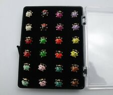 Wholesale lots 24PCS MF 925 Silver Plated Cute Beetle Stud Earrings