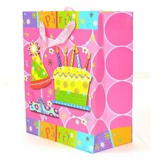 3PK MEDIUM PAPER GIFT BAGS DECORATIVE PARTY TEXT BIRTHDAY WEDDING ALL PARTY