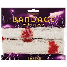 BENDA CON SANGUE Sanguinoso lesioni Finte Dottore Halloween Fancy Dress accessorio