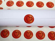 60 Red Heart Stickers Valentine's cards wedding invitations glass decals (65)