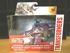 2014 Hasbro Transformers Movie 4 DINO SPARKERS DRIFT & SLUG Figure MOC BRAND NEW