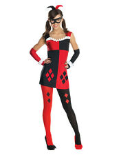 "Harley Quinn Kids DC Gotham Girls Costume, Tween Med, (USA 2-4),BUST 29"",WST 27"""