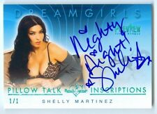 """SHELLY MARTINEZ """"INSCRIPTION AUTOGRAPH /1"""" BENCHWARMER DREAMGIRLS PREVIEW 2016"""