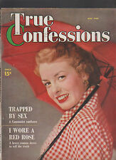 True Confessions Magazine May 1949 Trapped by Sex I Wore a Red Rose
