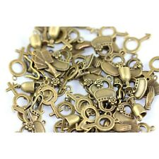 30g Steampunk Bronze Tibetan Random Shapes & Sizes Charms (His & Hers) ZX19175