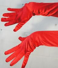 "17.5"" Long Satin Stretch Gloves Elbow Bridal Prom Opera Wedding Formal Party New"