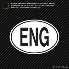 ENG England Country Code Oval Sticker Decal Self Adhesive English euro