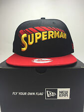 New Era MLB 9fifty SuperMan SnapBack Baseball Cap  Black Free Post