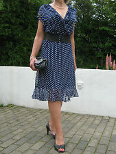 SPLENDIDA 1940/50s Pin Up Stile Polka Dot Tea Dress 12,14