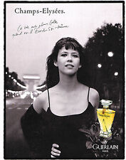 PUBLICITE ADVERTISING 025  1997  GUERLAIN   SOPHIE MARCEAU  CHAMPS-ELYSEES