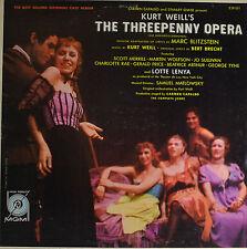 """THE THREEPENNY OPERA - KURT WEILL  12""""  LP  (P960)"""
