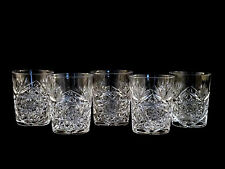 American Brilliant ABP Cut Glass Hobster & Fan Tumblers Rocks Glasses