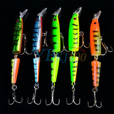 Lot 5pc Multi-jointed Minnow Fishing Lures Bait Swimbait CrankBait Tackle 10.5cm