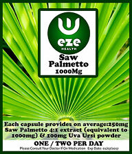 SAW PALMETTO  TABLETS /CAPSULES PROSTATE /HAIRLOSS DHT BLOCKER BUY 2 GET 1 FREE