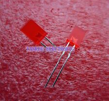 100PCS 2x5x7mm Rectangle LED Red Colour Red Light Emitting Diode Good quality