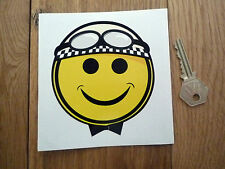 Smiley FACE CASCO CLASSIC auto bici adesivo RACING RACE MOTO RACER