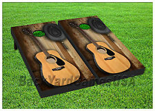 VINYL WRAPS Cornhole Boards DECALS Country Music Guitar Toss Game Stickers 368
