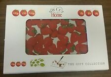 """RARE NEW Cutting Board, Glass, EXTRA LONG, RECTANGLE, STRAWBERRIES, 16"""" x 12"""""""