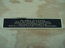 Bubba Watson 2012 Masters Champ Nameplate For A Golf Flag Display Case 1.5 X 8