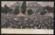POSTCARD TORONTO CANADA EXPOSITION BRITISH BAND PLAYING IN GAZEBO 1910'S